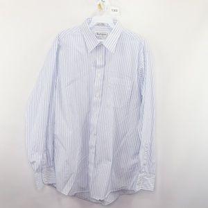 Vintage 80s Burberry Striped Dress Shirt 16 34